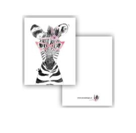 Kaartje A7 - Zebra