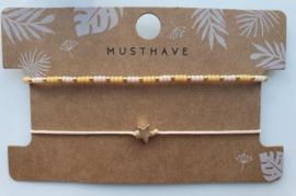 Armbandjes miyuki star goud (9)