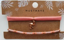 Armbandjes zalm flamingo