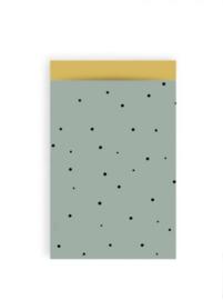 Dots groen/oker - 12 x 19