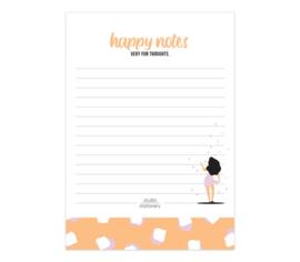 Notitieblok 'happy notes'
