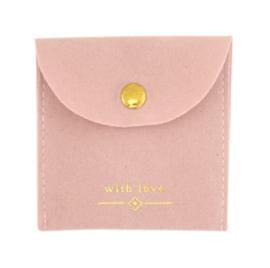Sieraden zakje roze met drukker