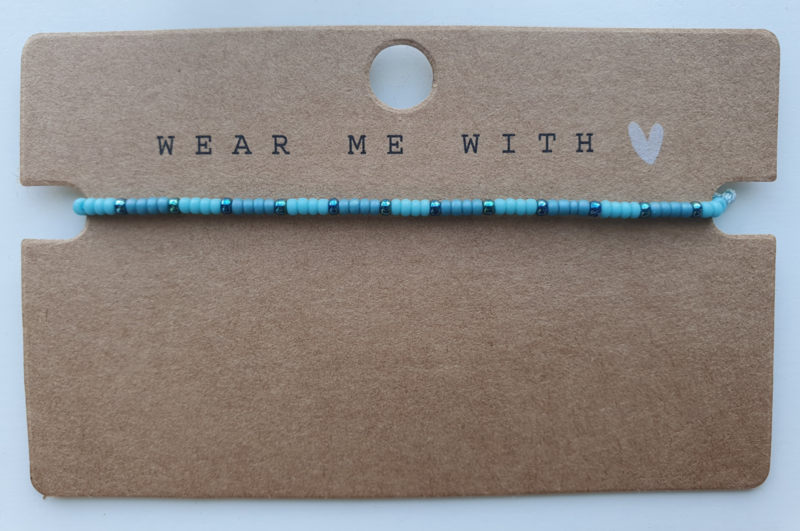 Armbandje miyuki 2 mm blauw