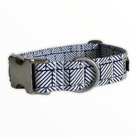 Halsband & looplijn Stripe Lovers  Blauw maat XS