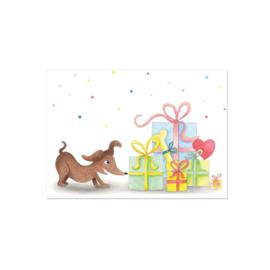 Teckelkaart cadeautjes