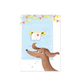 Teckelkaart post met liefde