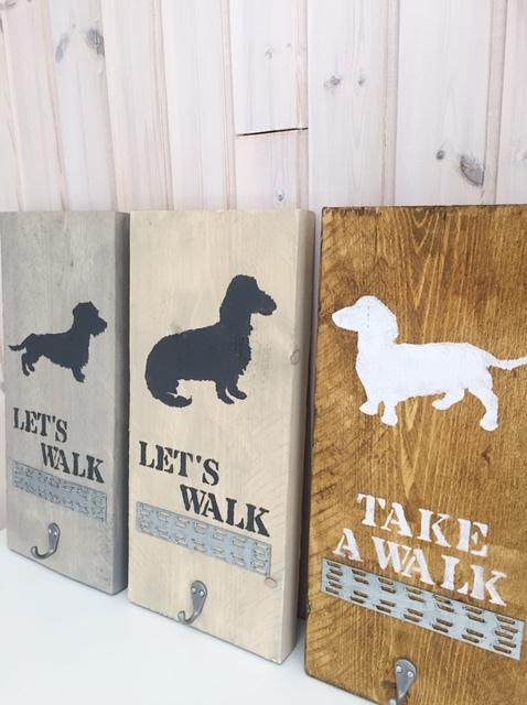 Wandborden voor hondenriem