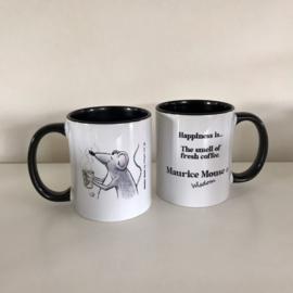 "Maurice Mouse © mok ""coffee, zwart"" Engelse versie"