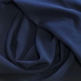 Donkerblauwe crèpe
