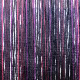 Tricot Velvet streep paars