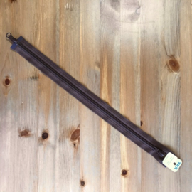 Open kunststof spiraalrits 5mm tandjes YKK met twijzijdige opening bruin 40 cm