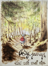 """Maurice Mouse © Poster A3 formaat. """"Small steps"""""""