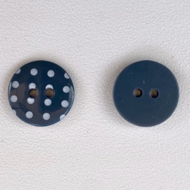 Polka dot donkergrijs maat 24/15,5mm