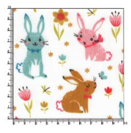 Polykatoen kleurige konijntjes