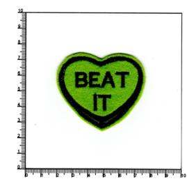 BEAT IT, hartvormig, groen
