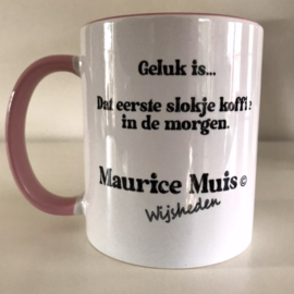 """Maurice Mouse © mok """"koffie, roze"""""""