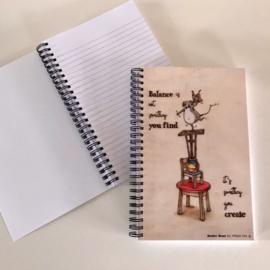 """Maurice Mouse © Notitieboekje """"balance"""""""