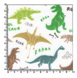 Polykatoen dinosaurussen op wit