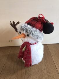 """Handgemaakt kerstfiguurtje """"Sneeuwman rode muts"""""""
