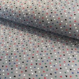 Triangles french terry (lichte sweaterstof) grijs