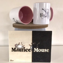 "Maurice Mouse © mok ""koffie, roze"""