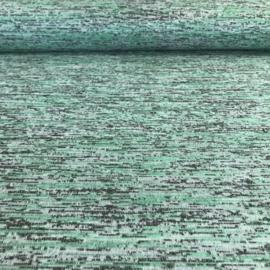 Tricot spikkel melange watergroen