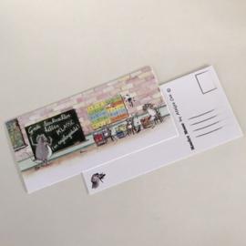 """Maurice Mouse © Postkaart. """"Speciale editie leerkrachten"""""""