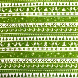 Polykatoen Nordic Kerst Groen