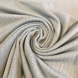 Dubbel gelaagde tricot ruitje zilvergrijs
