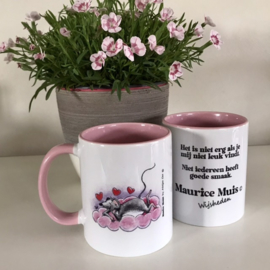 "Maurice Mouse © mok ""goede smaak, roze"""