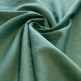 100% gewassen linnen - teal