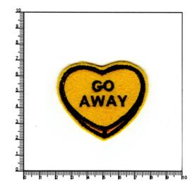 GO AWAY, hart, geel
