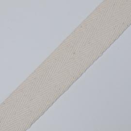 Keperband zwaar 25 mm., natuur