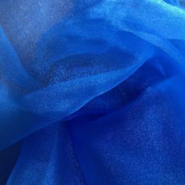 Koningsblauw Japanse Chrystal organza