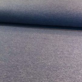 Denim blue melee french terry brushed