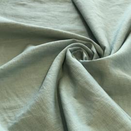 100% gewassen linnen - aqua