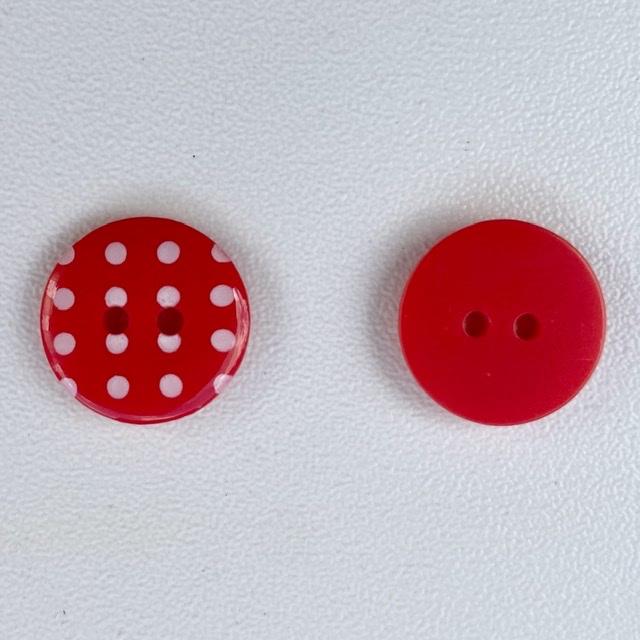 Polka dot rood maat 24/15,5mm