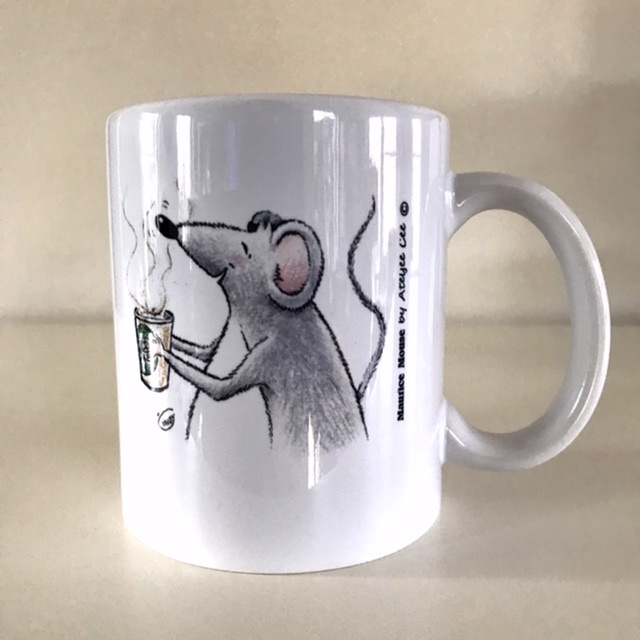 """Maurice Mouse © mok """"koffie, wit"""""""