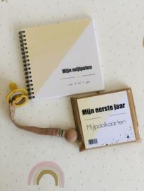 Fotoboek mijn mijlpalen - geel