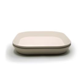 Mushie plates - square ivory