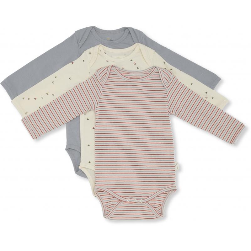 Konges Sløjd Newborn 3-pack body - Mille marin