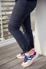 Brunelli Trousers Caleb Blue Tartan
