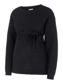 Mama Licious Kinsley Oversize L/S Knit Top Black
