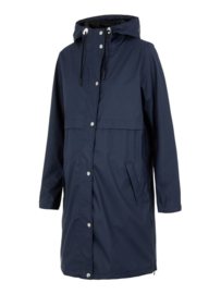 Mama Licious Mljoelle Zippu Side Raincoat Navy Blazer