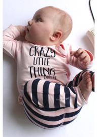 BESS Shirt LSL Girl Crazy Little Thing Pink