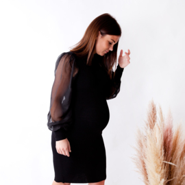 Yas Melanie LS Knit Dress Black