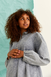 Mama Licious Athens Woven Shirt Light Blue Denim