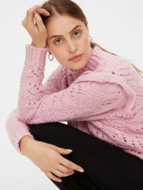 yas Powda Sassy LS Knit Pullover Lilac Sachet