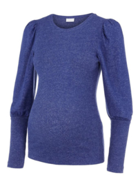 Mama Licious Fiola L/S Jersey Top Twilight Blue