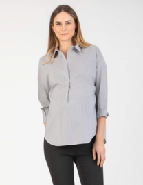 Attesa Blouse Over Stripes